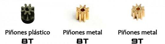 Comparativa de Piñones: originales 8T vs. metálicos 9T