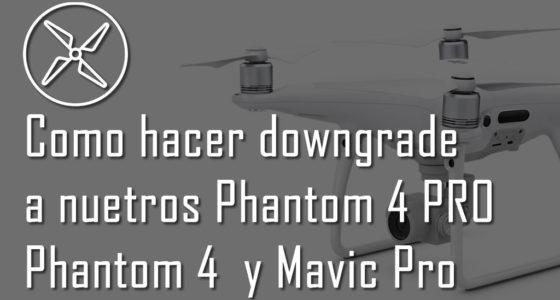 Downgrade y realizar backup del firmware de un DJI Phantom 4 y 4 pro, Mavic, Spark